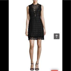 Sam Edelman Star Lace Sheath Dress Black NWT